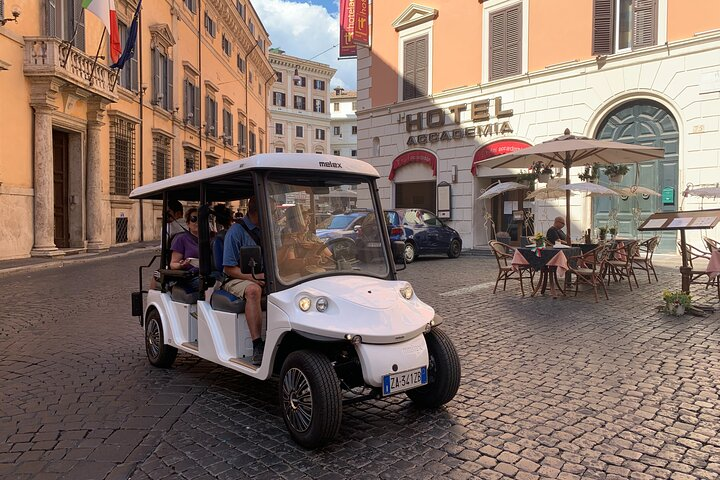 Discover Rome by Golf Cart With Food Tasting