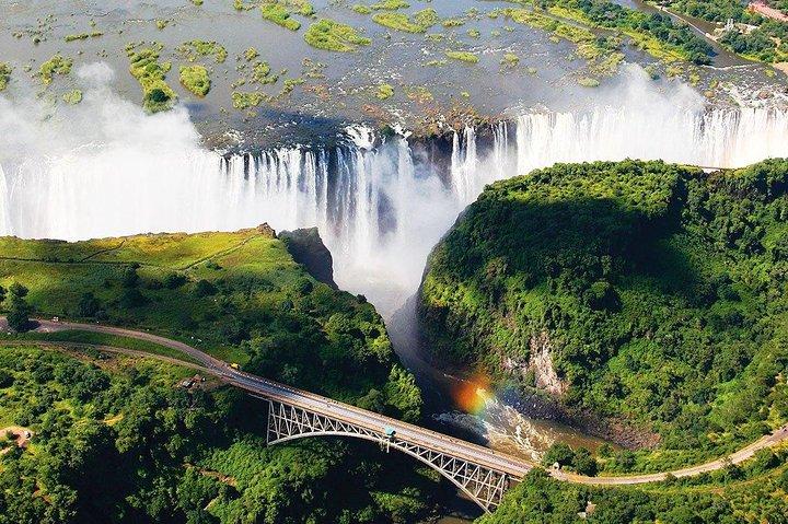 Admire the mighty Victoria Falls
