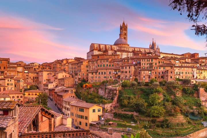 Sunset Siena and Chianti Wine Tour with Dinner from Florence