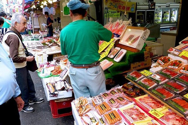 Ueno Local Market Experience with Plenty of Food