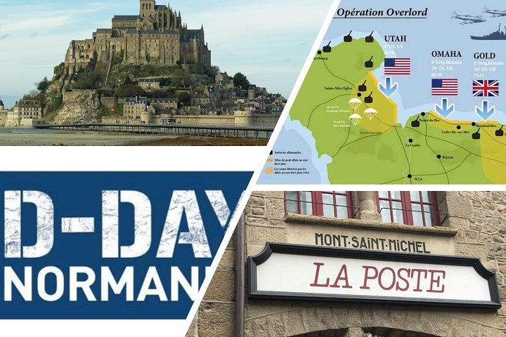 MONT-ST-MICHEL and NORMANDY D-DAY: combined day-trip from PARIS