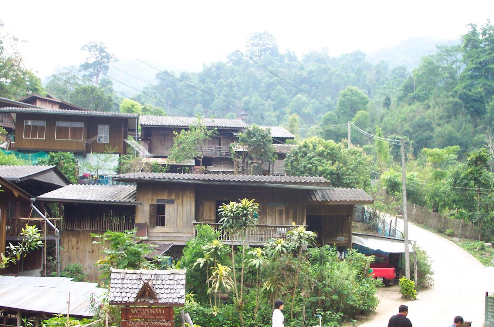 Take in the beautiful view of the village