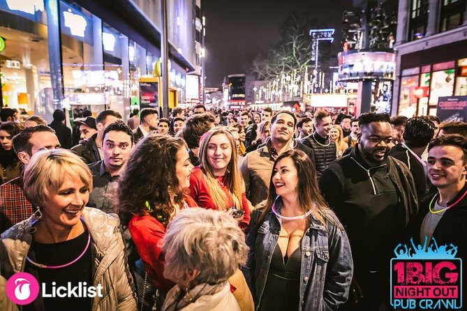 1 Big Night Out Pub Crawl: CENTRAL / West End: The biggest daily pub crawl in UK!