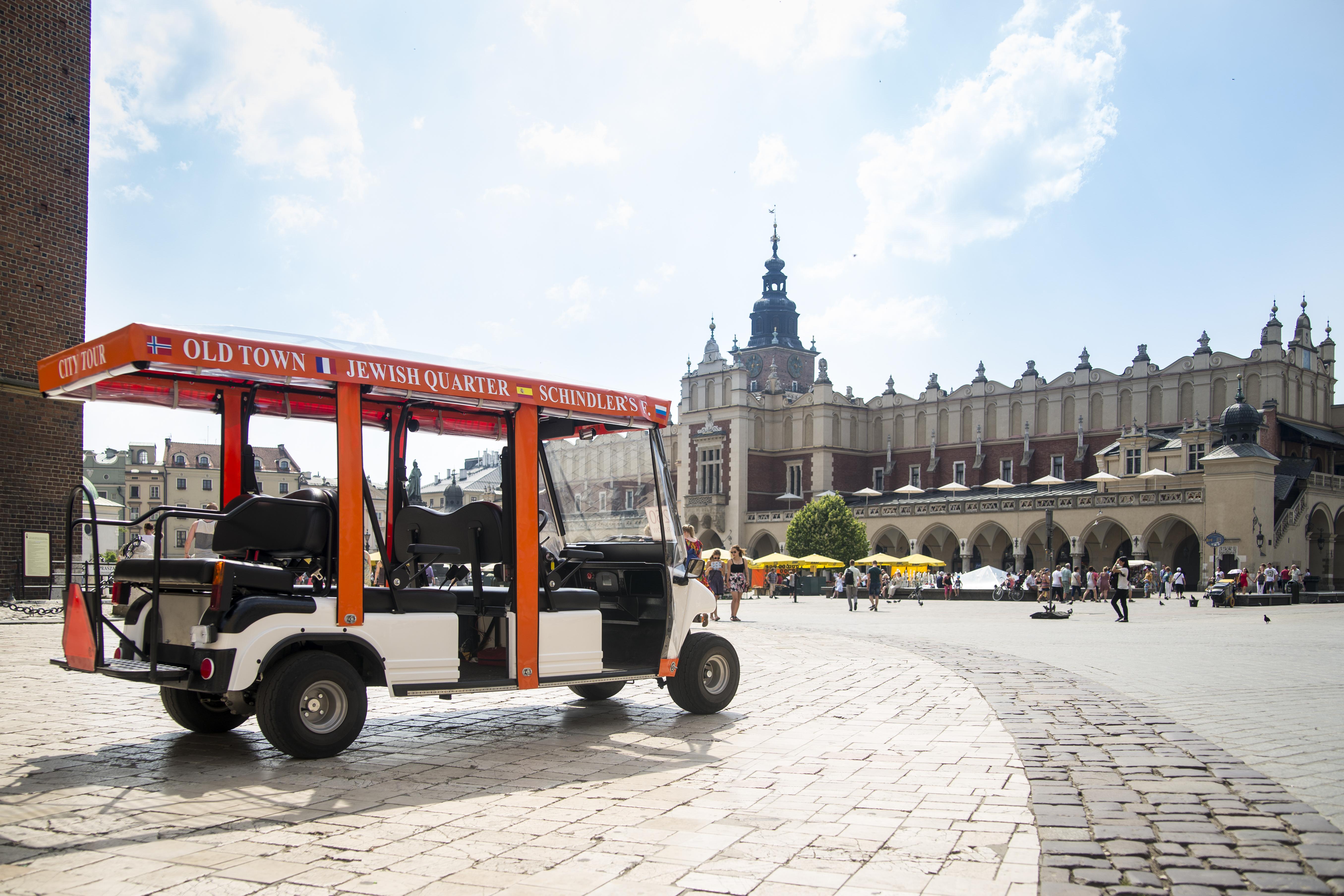 Krakow sightseeing by eco-vehicle (Melex) - 3 zones SINGLE Ticket