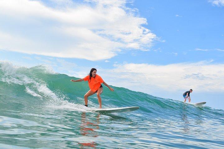 Enjoy surfing on the Caribbean Sea