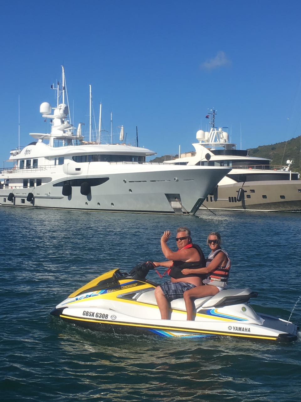 Experience a thrilling ride on a jet-ski in Saint Martin