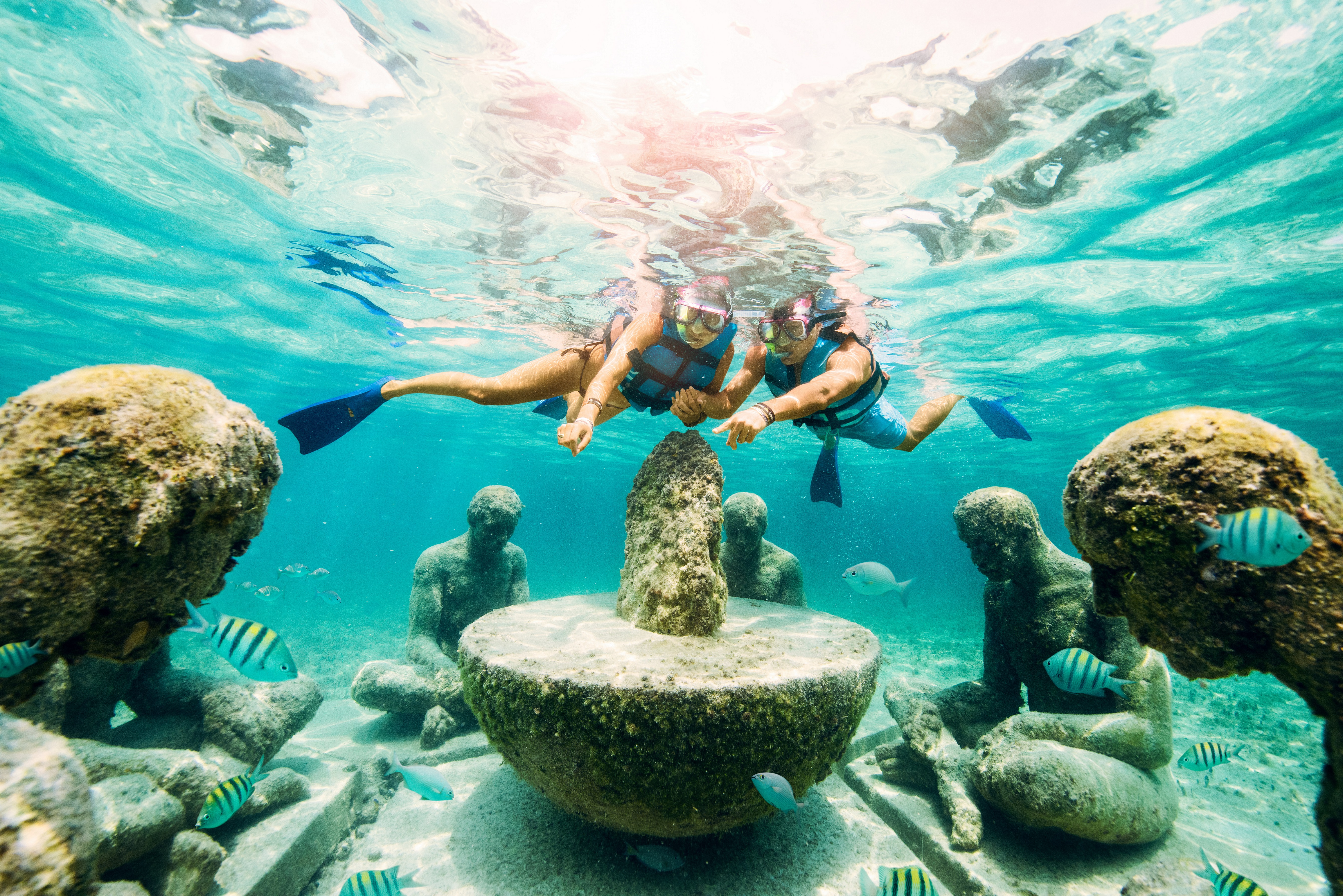 Snorkel to discover the underwater world
