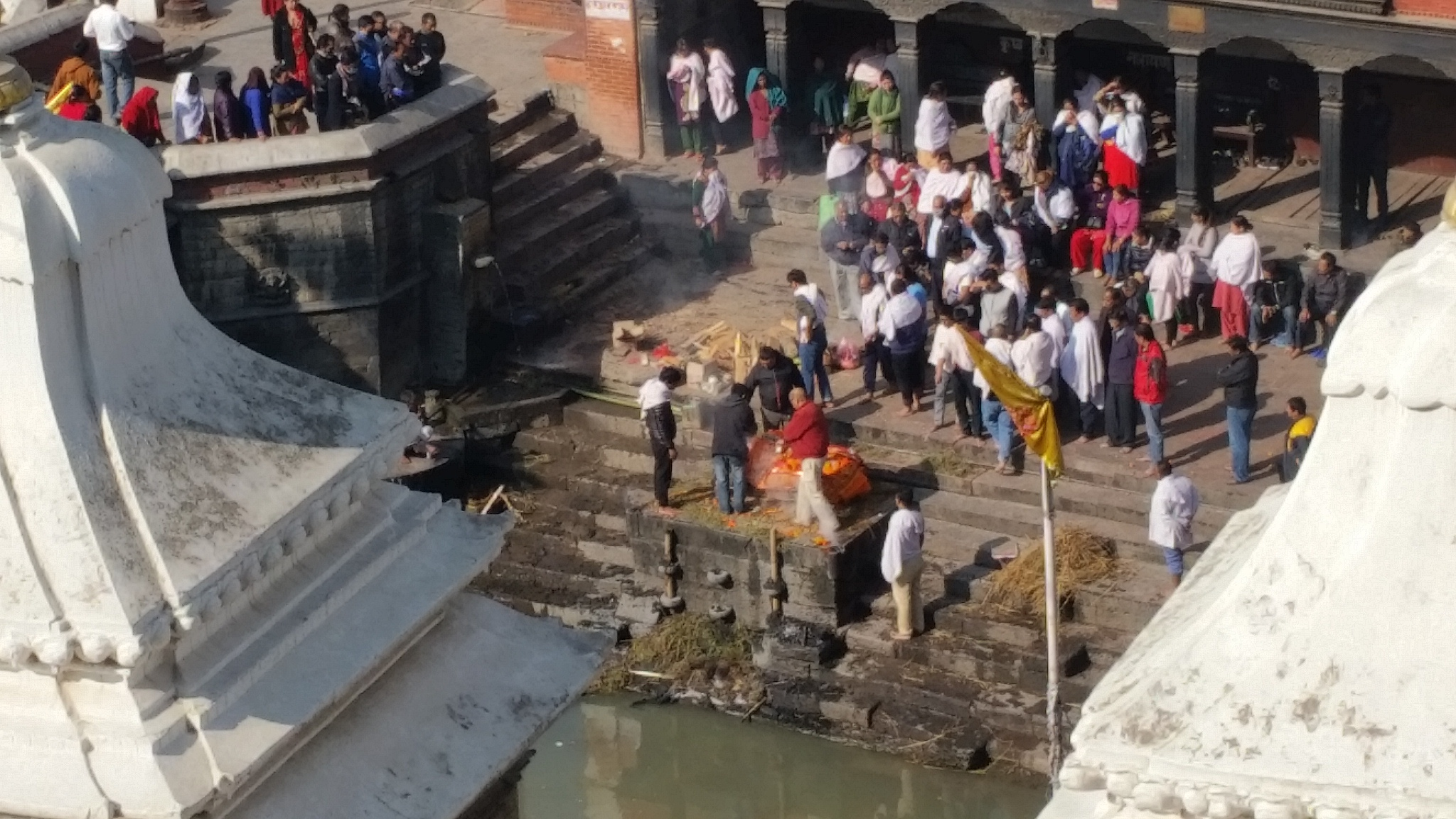 Devotees paying homage