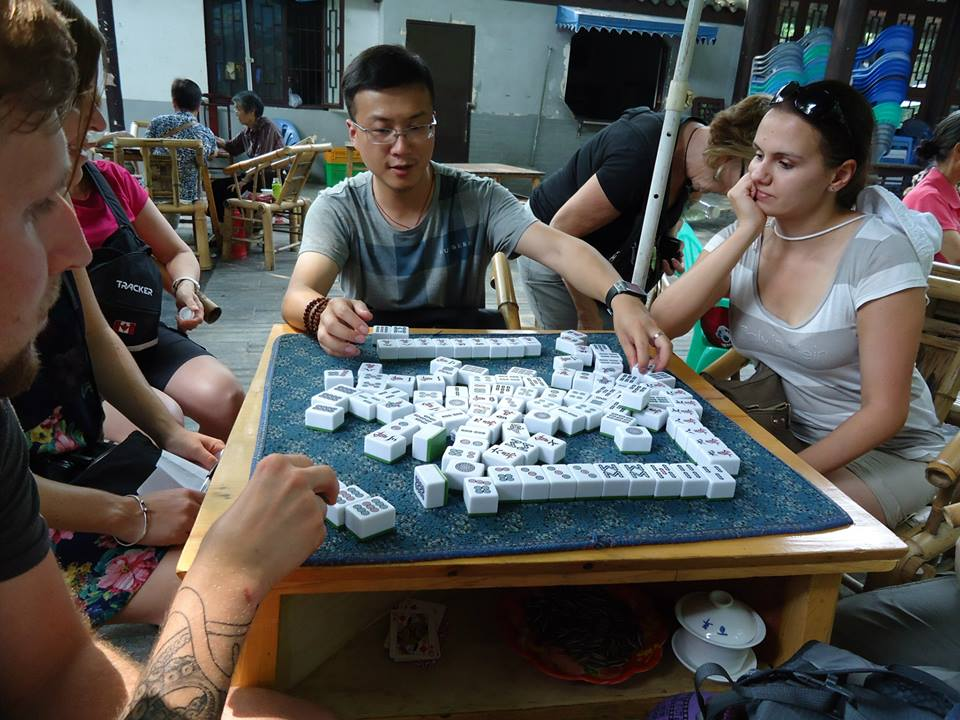 Enjoy playing Mahjong with friends