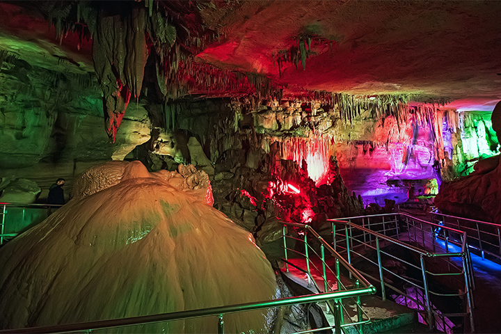 Venture into the caves