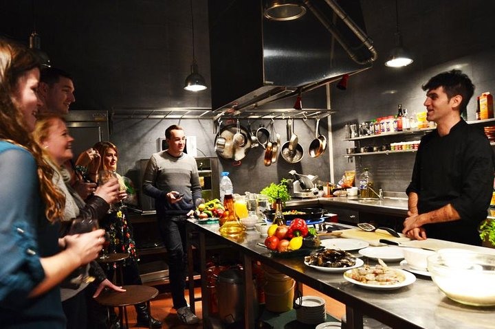 Interactive Spanish Cooking Experience in Barcelona