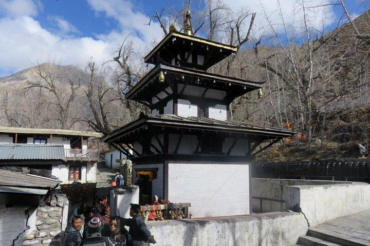 A Nepali pagoda style temple.