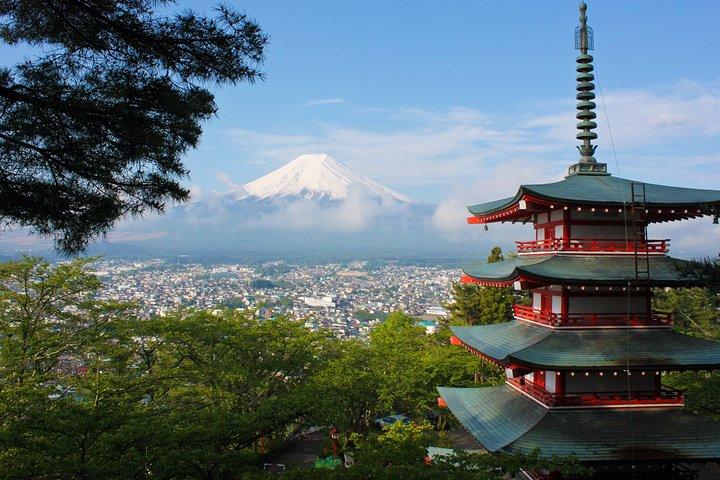 Mount Fuji overlooking the city