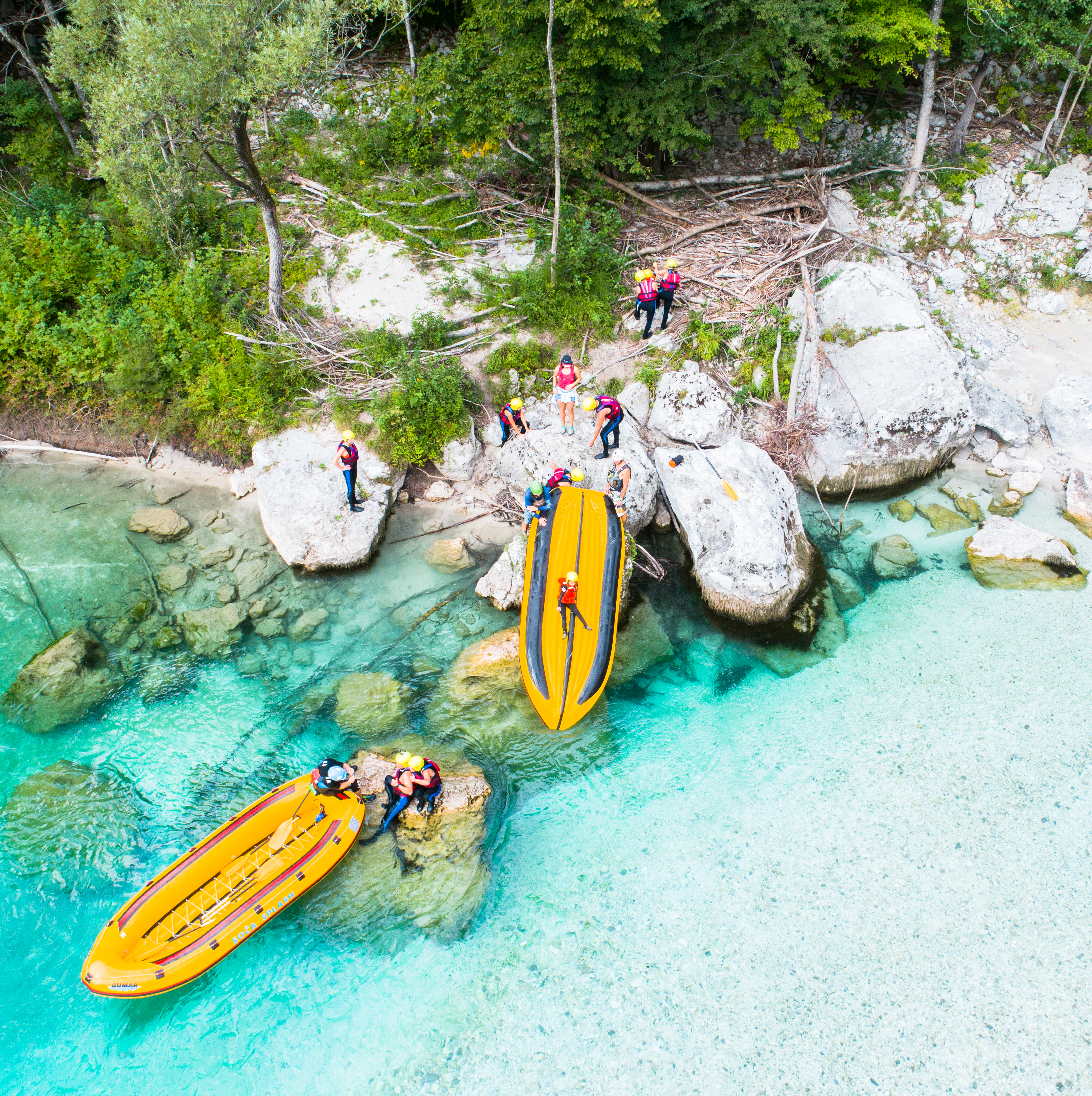 Go rafting on the Soca River.