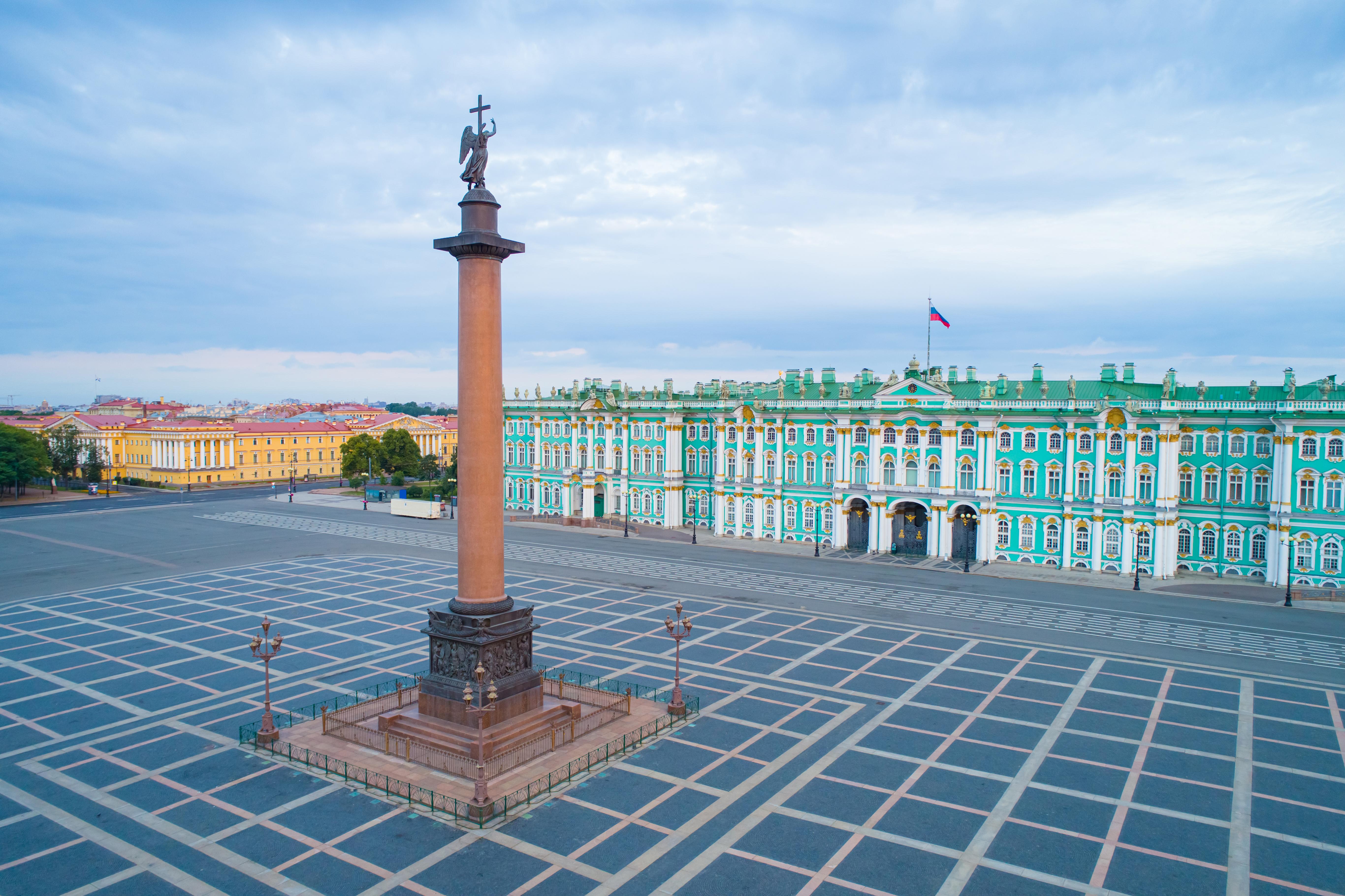 Palace Square with State Hermitage Museum views