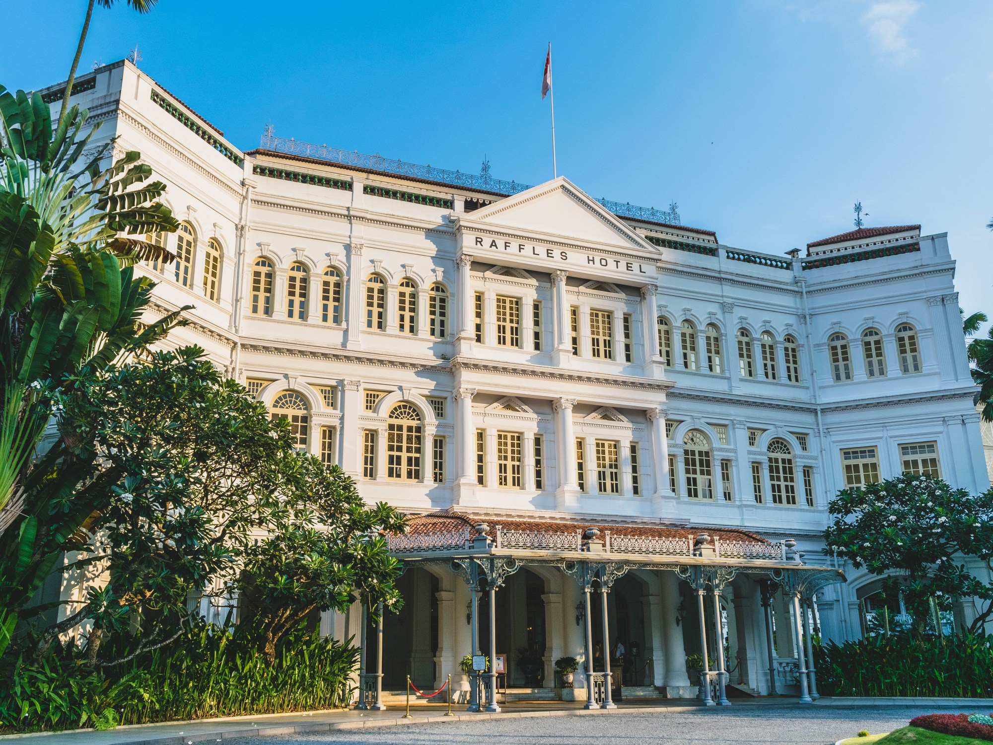 Afternoon tea at Raffles Hotel