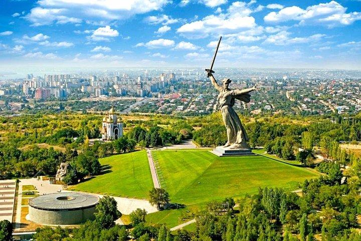 "The gigantic statue ""The Motherland Calls"""