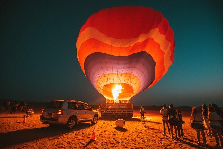 Adventure Hot Air Balloon With Gourmet Breakfast, Falcons, Quad Biking & Dune Bashing