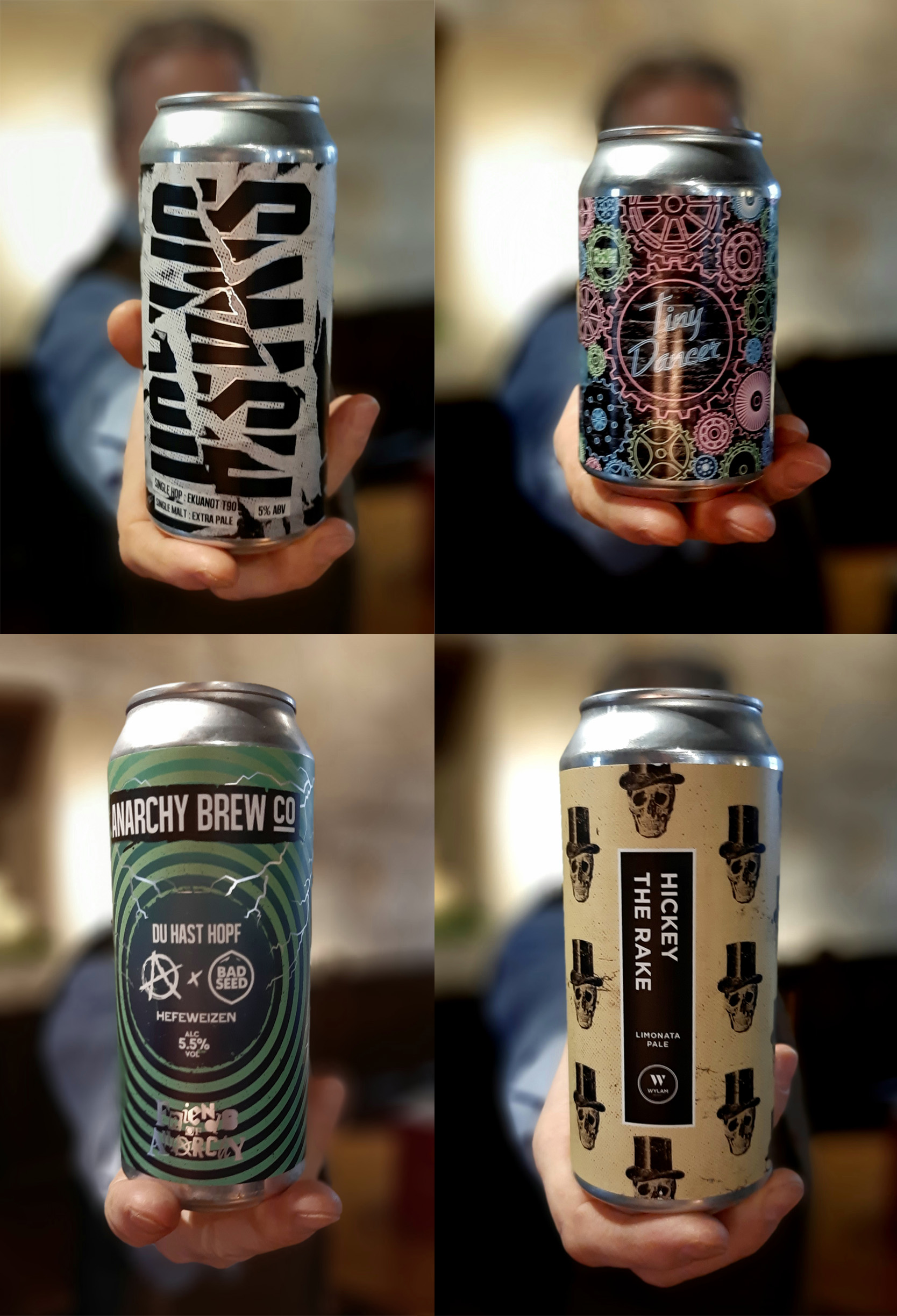 New World hops and cans