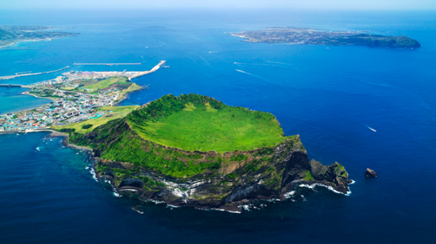 Aerial view of Jeju Island