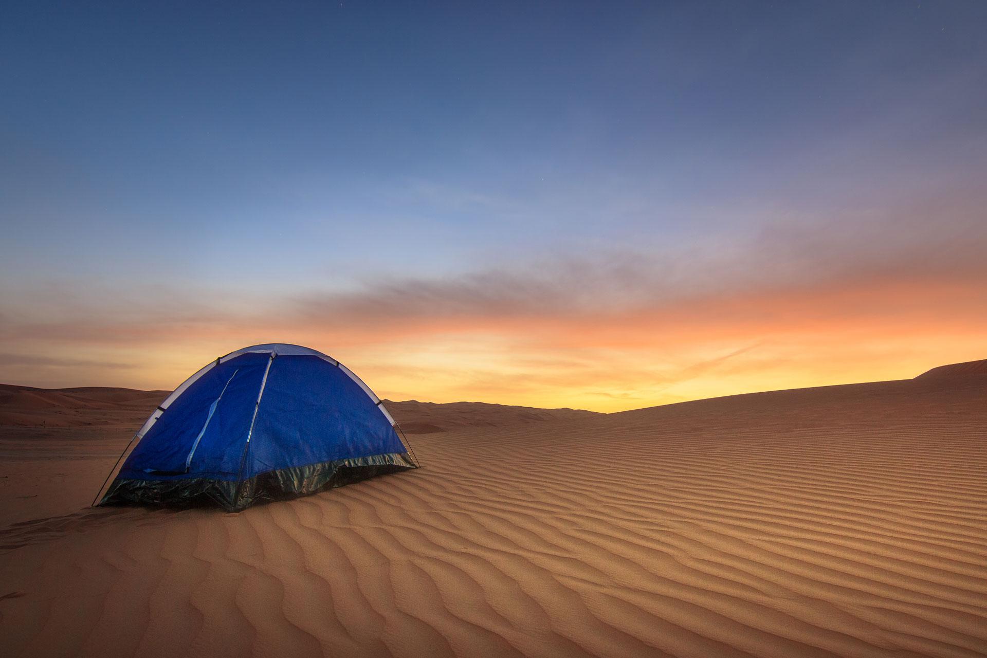 Sleep in the desert