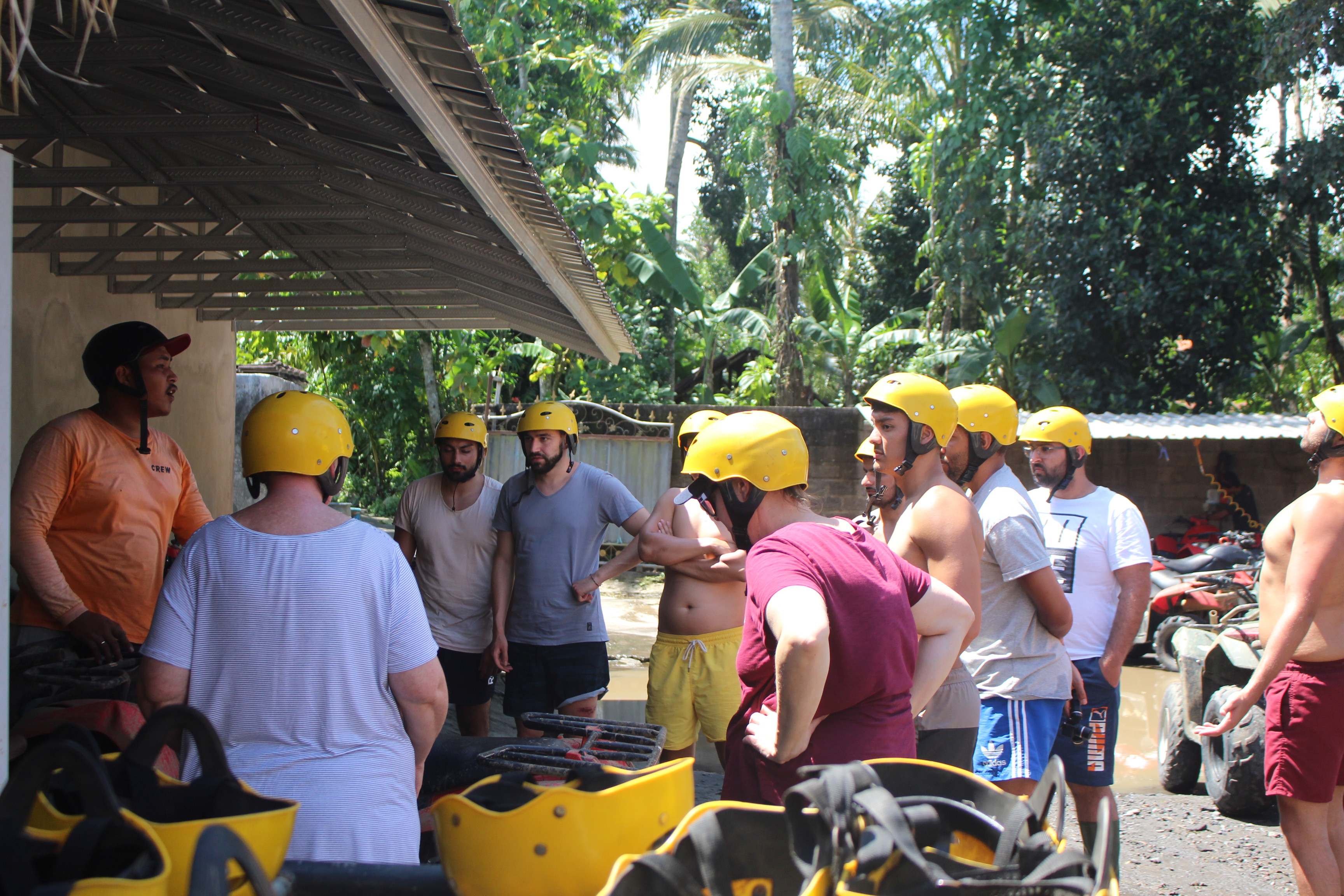 Gearing up for the ATV ride