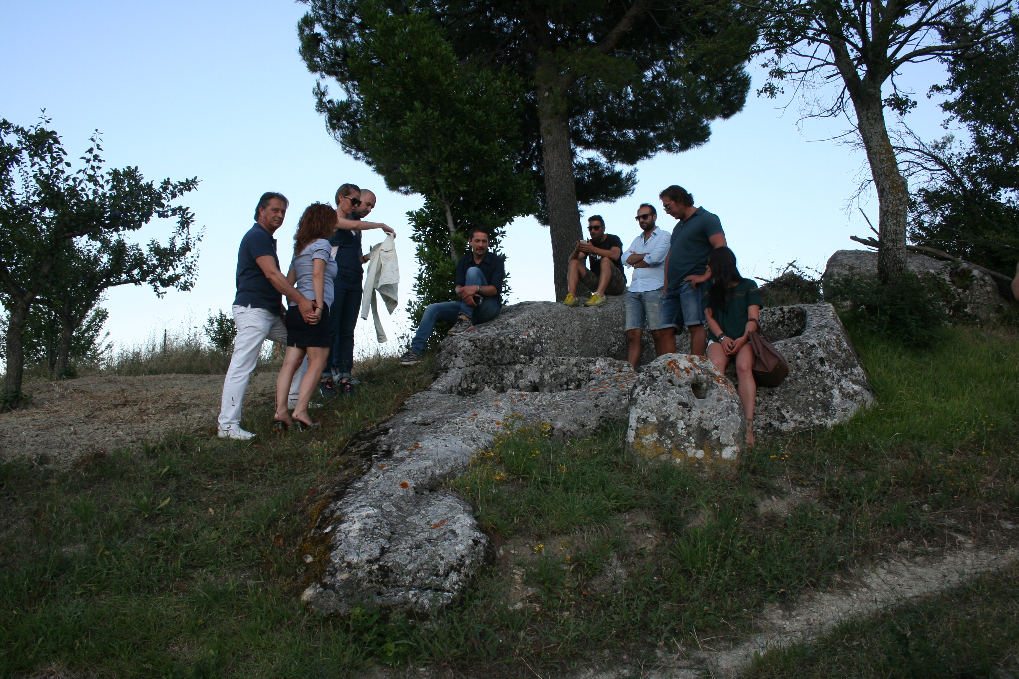 A tour of ancient vineyards and Palmenti, ancient tanks in grape pressing stone.
