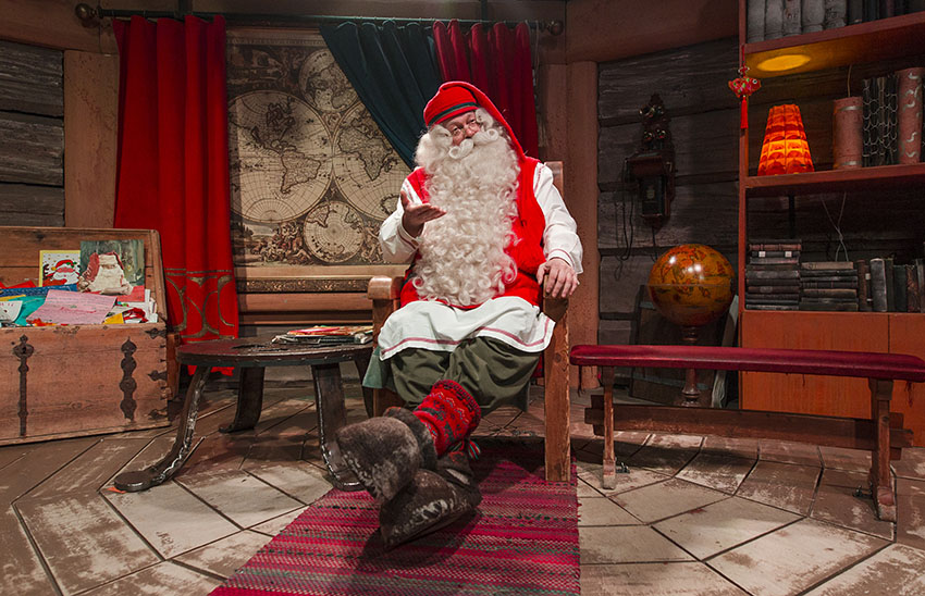 Santa Claus village and Santa Park with lunch