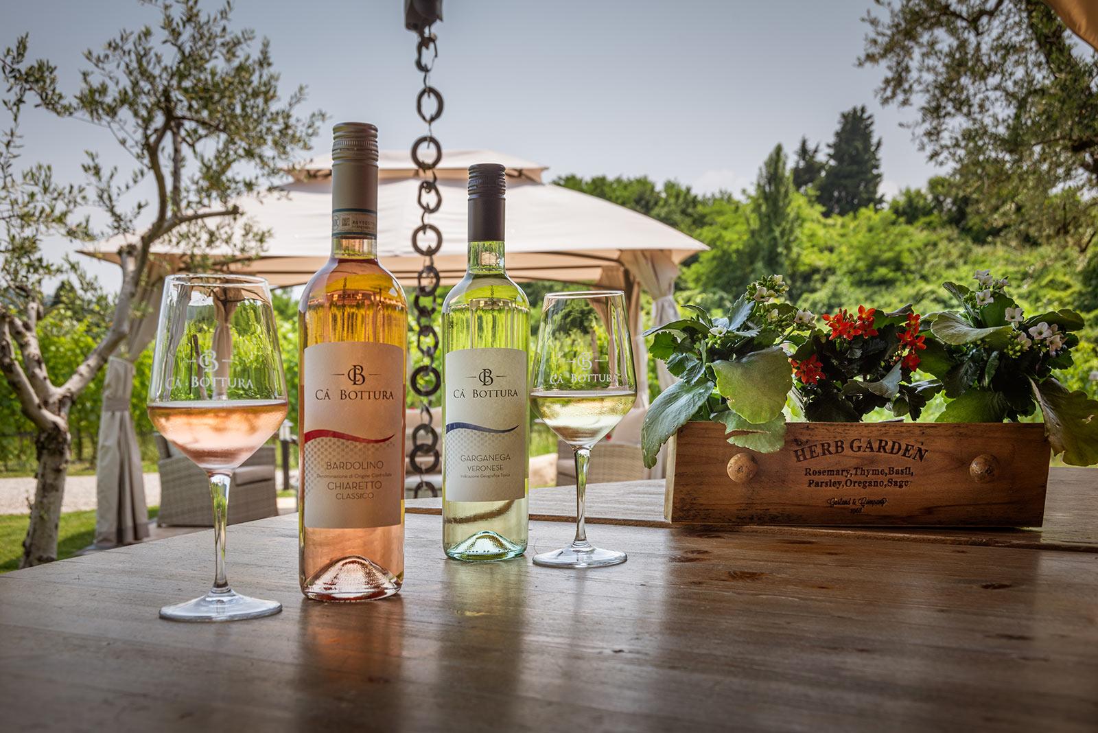 Garda and Costermano among the vineyards