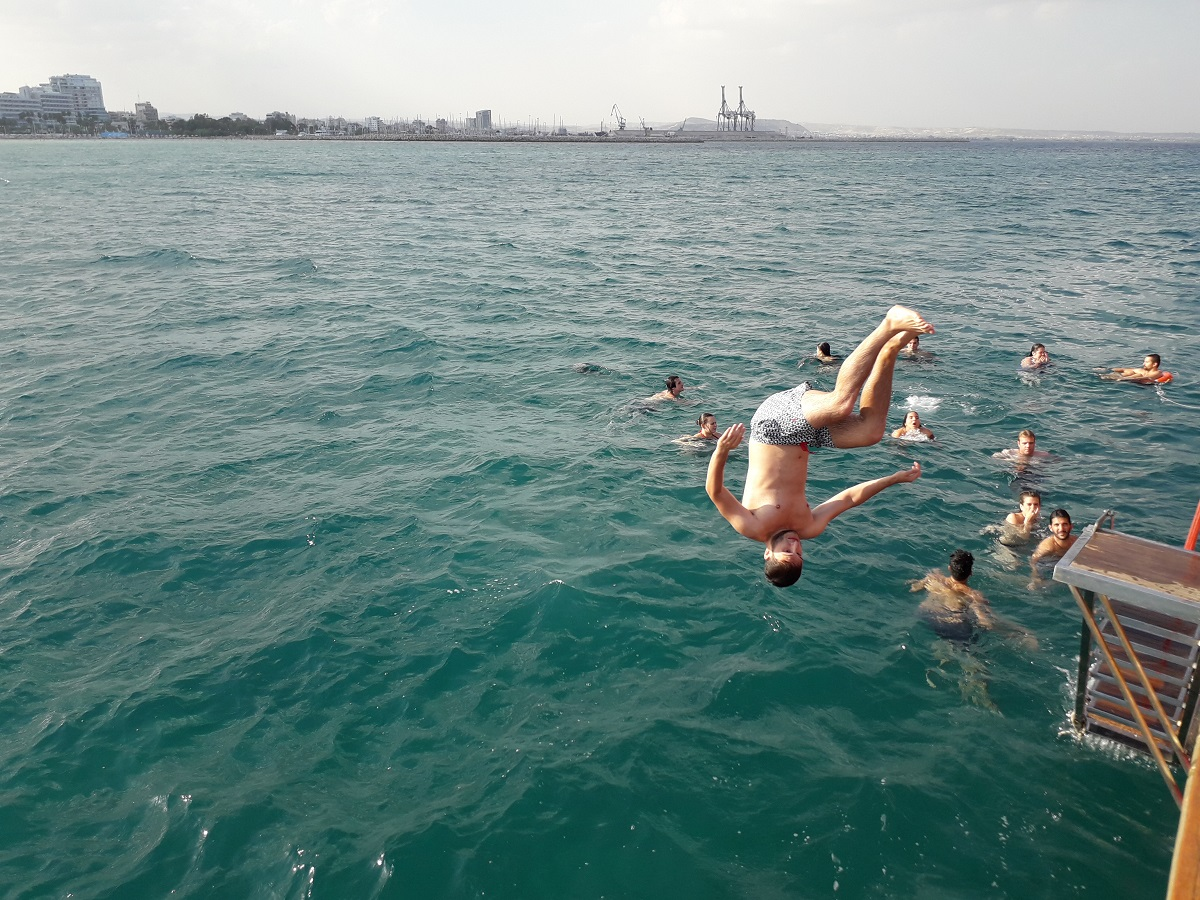Take a dive into the water and enjoy swimming