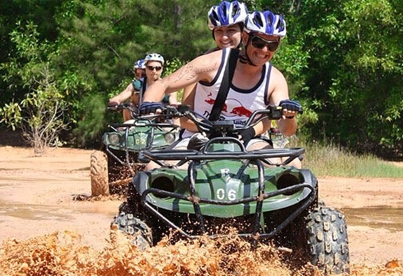 ATV riding is not for germophobes