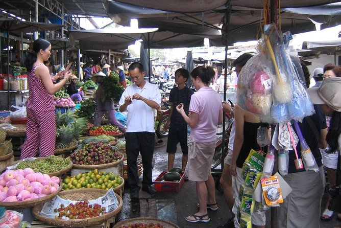 Explore the bustling market of the city