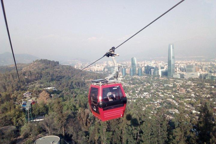 Santiago City Tour with Teleférico + Funicular + Lunch Mercado Central