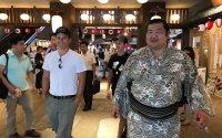 Walk with a sumo wrestler