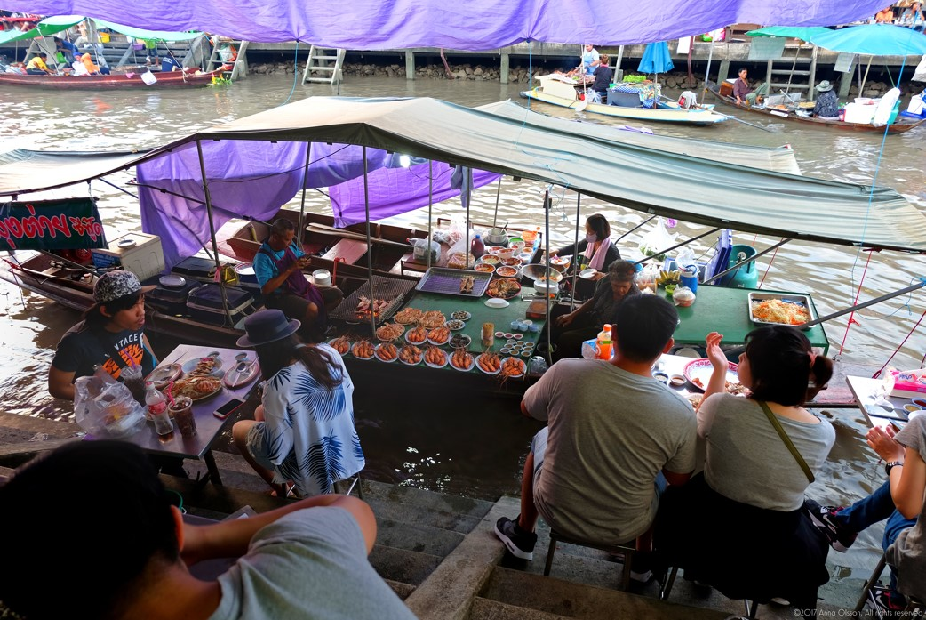 Amphawa Floating Market and Maeklong Train Market Join Tour