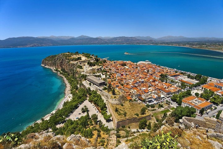 Nafplio view from the Fortress of Palamidi