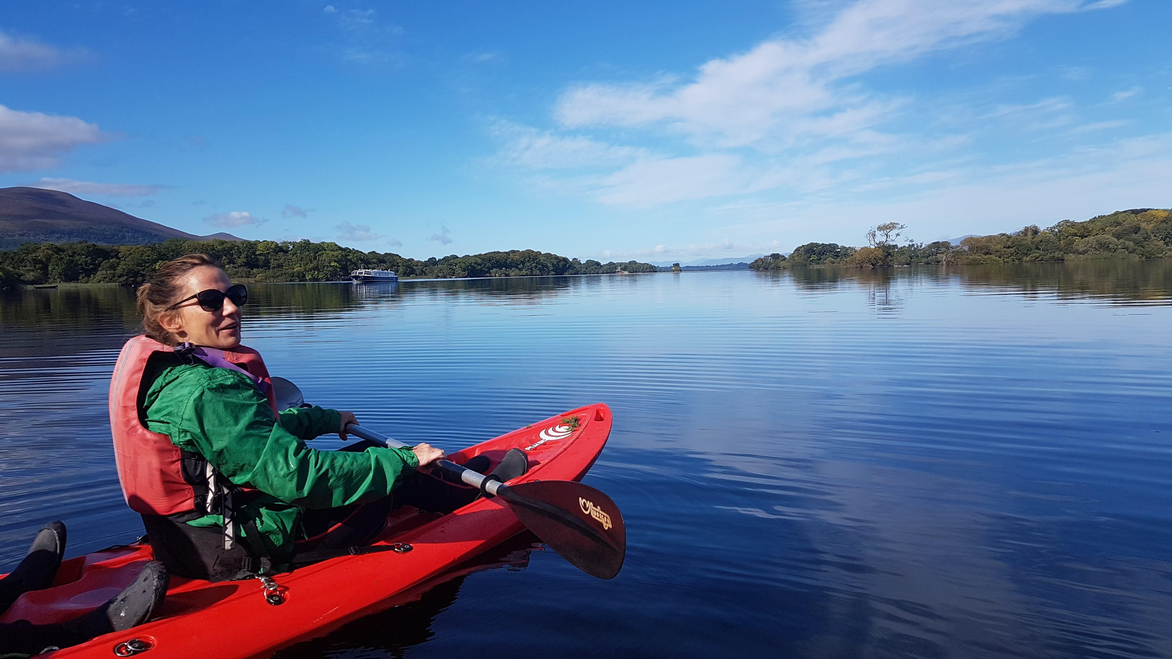 Enjoy kayaking in Killarney Lakes