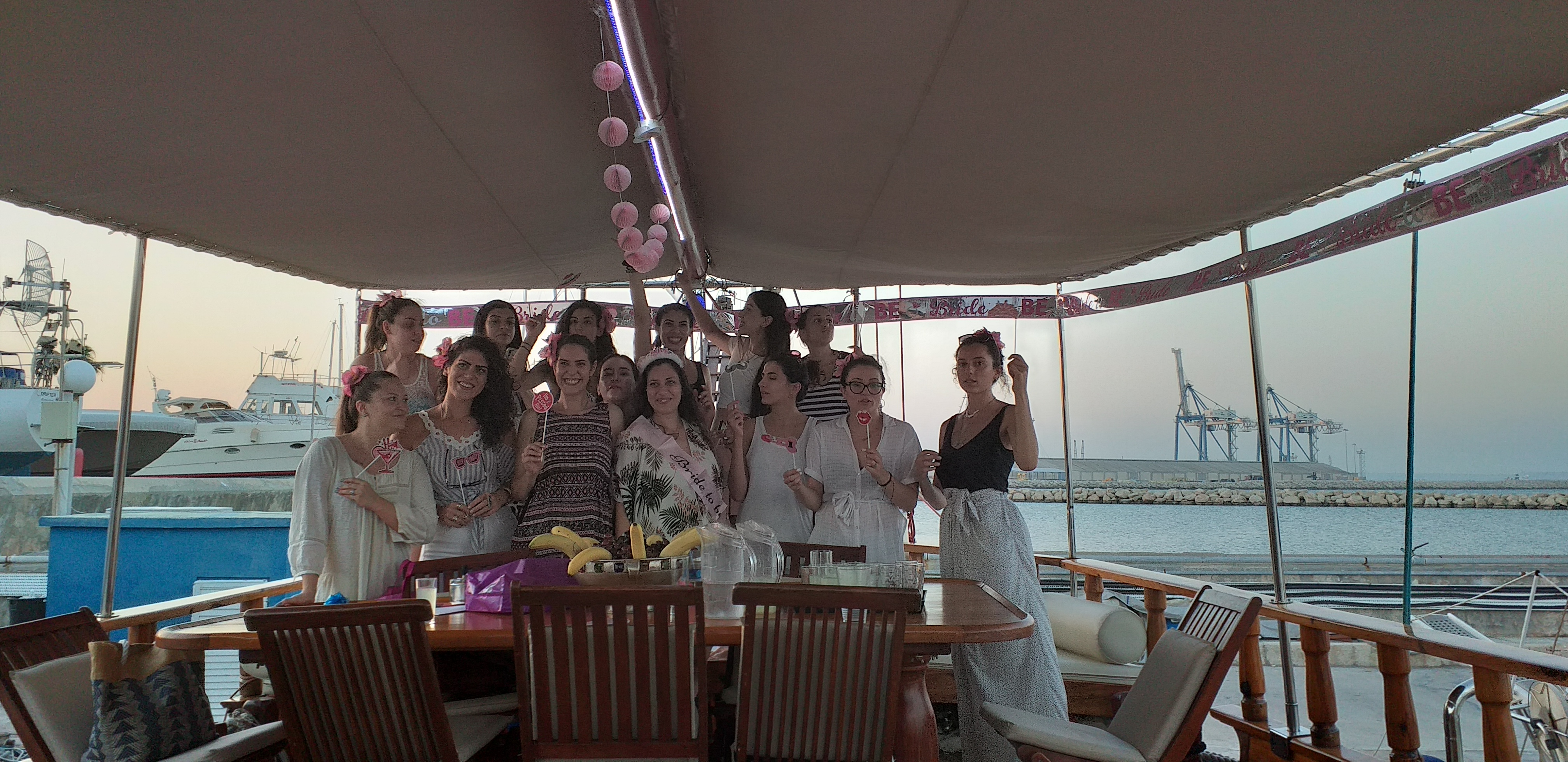 Party with friends on board