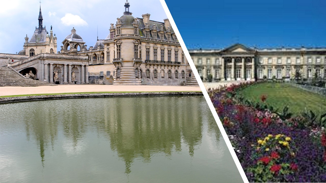 CHANTILLY CASTLE & COMPIEGNE PALACE (lunch in the medieval city of SENLIS ) - 1 day-trip from your hotel in PARIS -