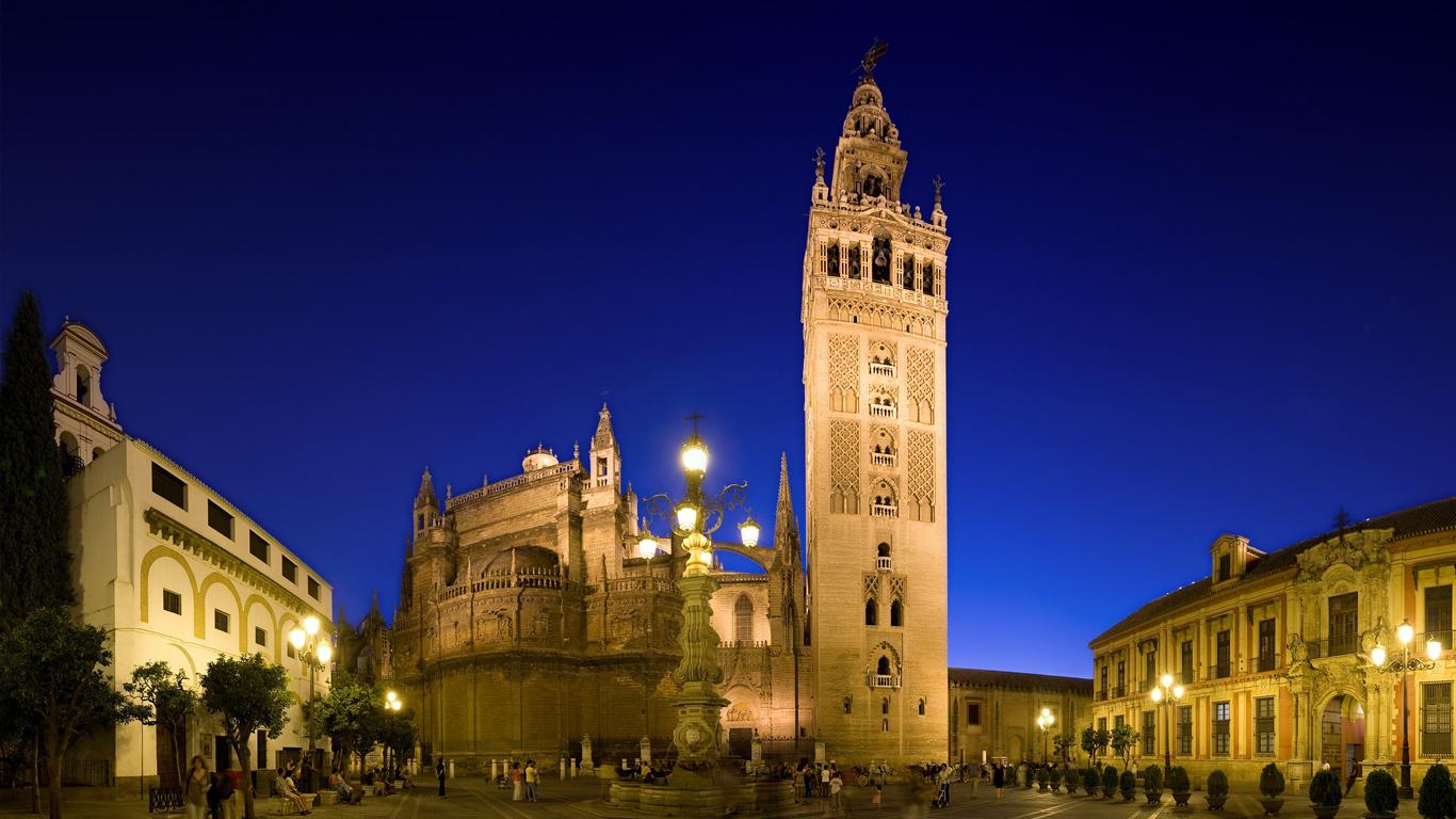 Take a walking tour around Seville.