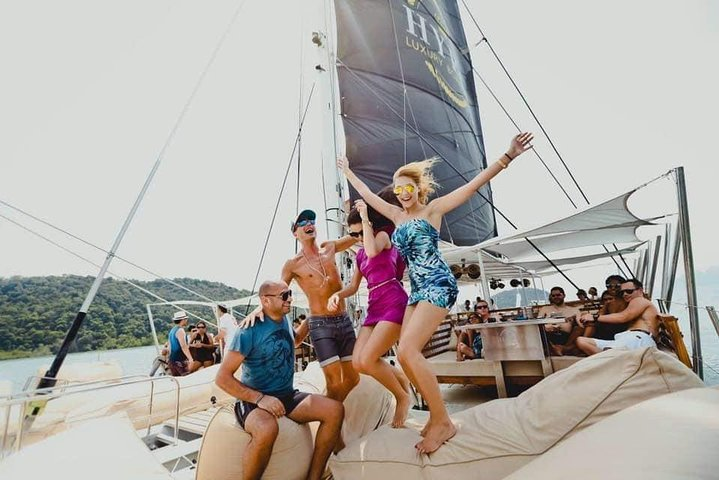 Hype Party Boat From Phuket Live Dj Lunch Sunset Unique Catamaran