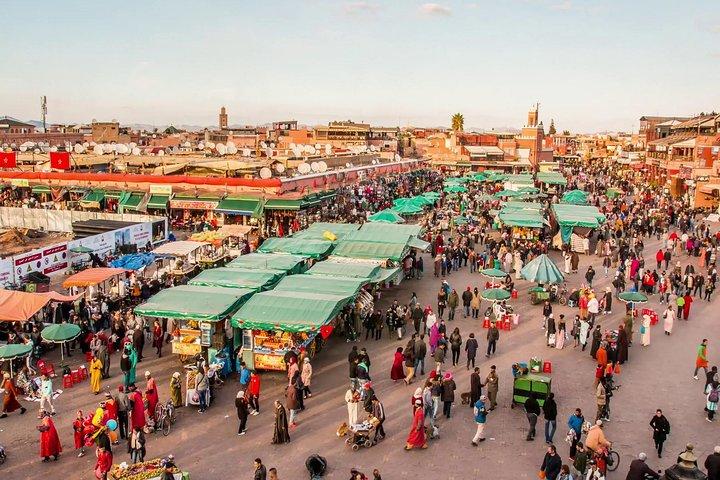 Marrakech's famous souk/market