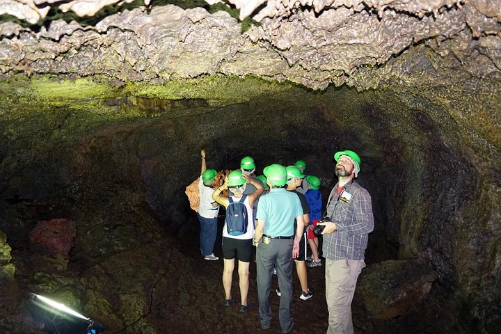 Explore the caves in the island