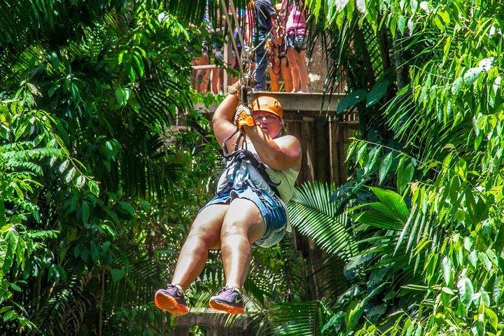 Enjoy ziplining