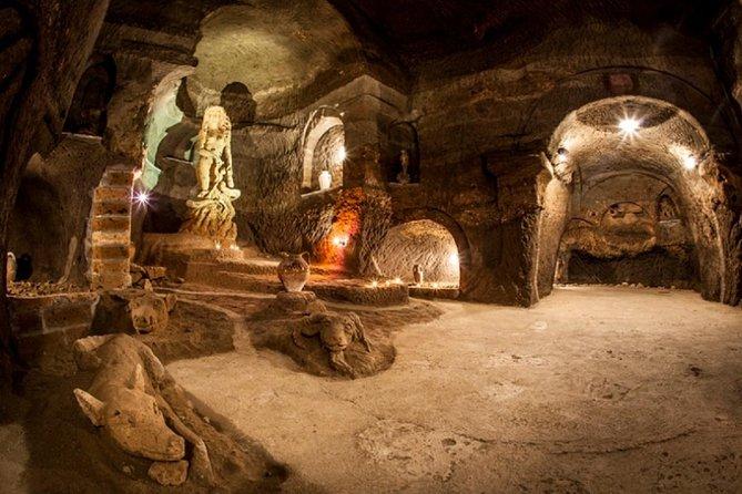 Aperitif in the famous undergound caves of Orvieto