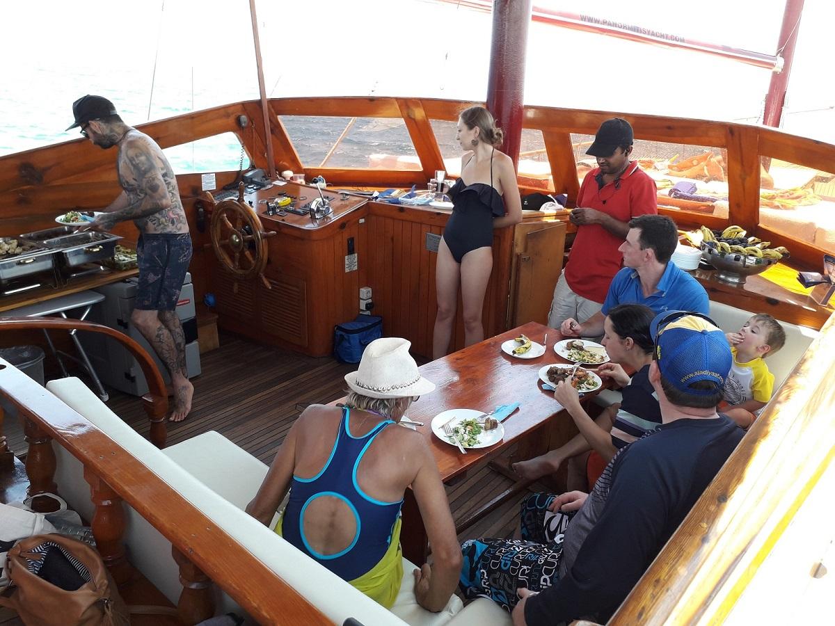 Enjoy onboard facilities