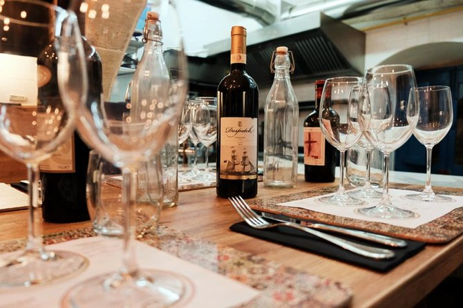 Taste special wine and cuisine