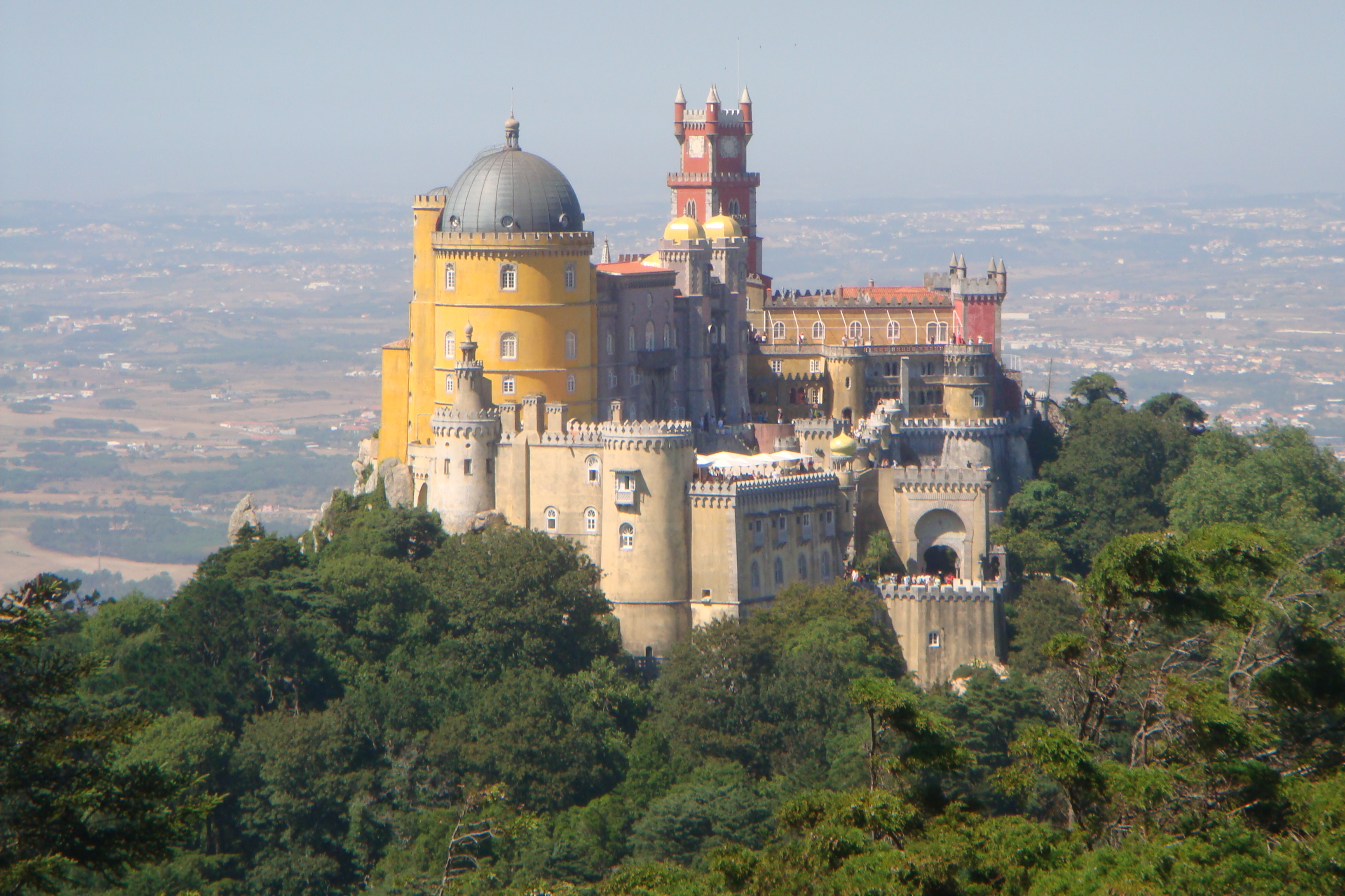 National Palace of Pena surrounded by lush trees