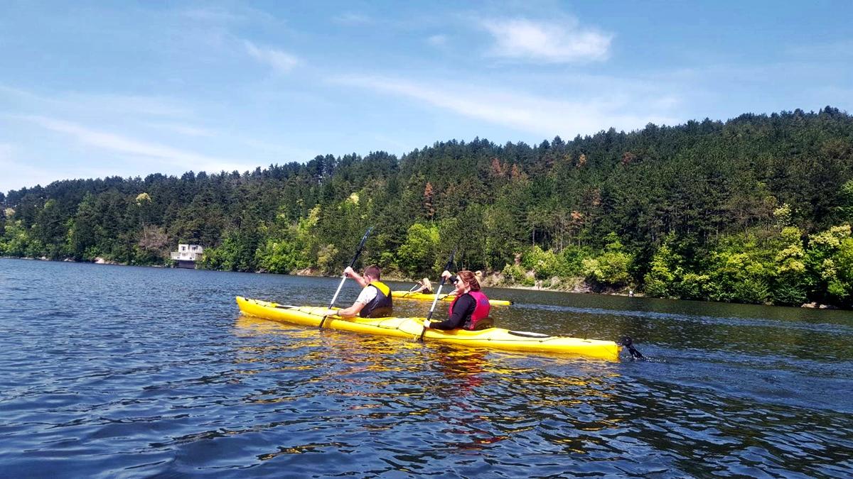 Enjoy kayaking at a stunning location