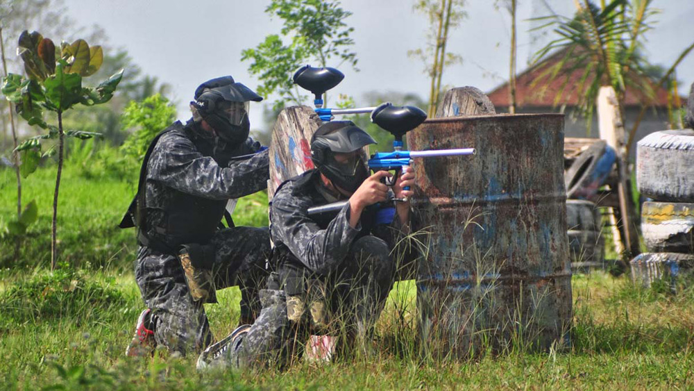 Team up for a game of Paintball